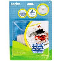 Perler® Large Clear Pegboards 2-Pk.