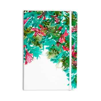 "Ebi Emporium ""Floral Cascade 7"" Teal Red Everything Notebook"