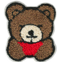 ON SALE 15% OFF Large Chenille Teddy Bear Patch 9cm