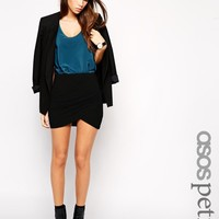 ASOS Petite | ASOS PETITE Exclusive Mini Skirt with Wrap Front at ASOS