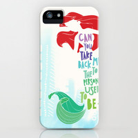 ariel iPhone Case by Sara Eshak