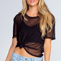 Lotus Mesh Crop Top