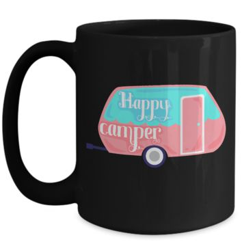 Camping Lovers Coffee Mug for Women Happy Camper
