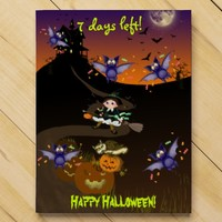 Halloween little witch bat pumpkin sweet countdown