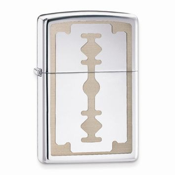 Zippo Razor Blade High Polish Chrome Lighter - Engravable Personalized Gift Item