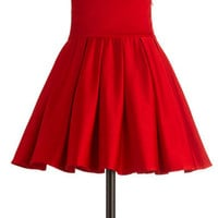 Belle of the Ball Skirt in Crimson | Mod Retro Vintage Skirts | ModCloth.com