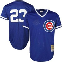 Mitchell & Ness Ryne Sandberg Chicago Cubs Cooperstown Authentic Collection Throwback Replica Jersey - Royal Blue
