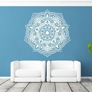 ik369 Wall Decal Sticker mandala hamsa hand Buddha Hindu Hinduism Ornament
