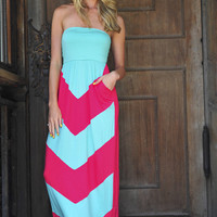 Get To The Point Maxi Dress: Fuschia | Hope's