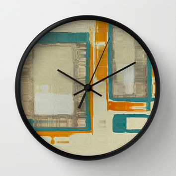 Mid Century Modern Abstract Wall Clock by Corbin Henry
