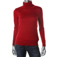 Lauren Ralph Lauren Womens Petites Knit Signature Turtleneck Sweater