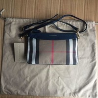 Women??s Burberry Leather And House Check Crossbody Bag