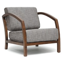 Baxton Studio Velda Modern Accent Chair, Brown