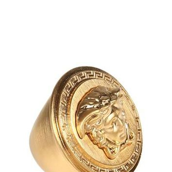 Indie Designs Versace Inspired Plating Gold Medusa Ring