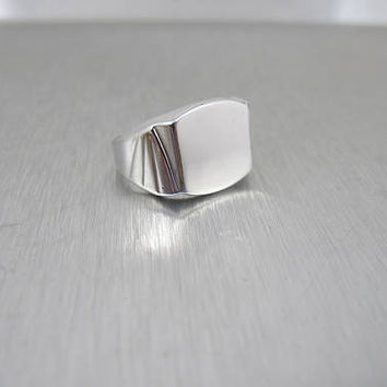 Uncas Mens Signet Ring. Art Deco Sterling Silver Mens Ring. Monogram Initial Ring. Uncas Jewelry. Size 8 9.0 Grams