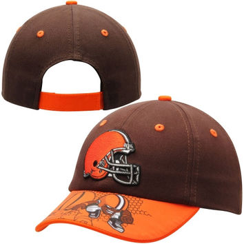 Cleveland Browns Preschool NFL Rush Zone Defense Engage Adjustable Hat - Brown
