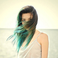Dip Dye OMBRE Hair Extensions // ANY COLOR // Clip-In // Human Hair