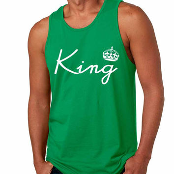 King with crown men jersey tank top