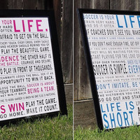 Soccer Is Your Life - Manifesto Print Combo Pack