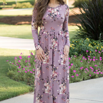Fit & Flare Floral Maxi Dress