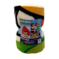 Angry Birds Blanket Bold Bird vs Pigs Game Plush Throw