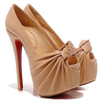 Christian Louboutin Fashion Edgy Red Sole Heels Shoes-29