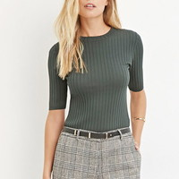 Contemporary Classic Ribbed Sweater