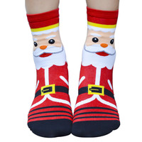 3D Cartoon Christmas Socks Women Cotton Socks Floor U6822