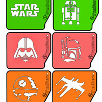FunFare stencil set (6 stencils), Star Wars inspired, food decorating stencils