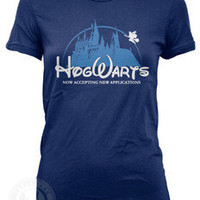 HOGWARTS Applications Funny Harry Potter on American Apparel Ladies 2102 T Shirt