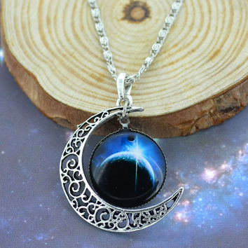 Earth Moon Necklace