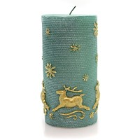 Christmas Gold Reindeer Candle Decorative Candle