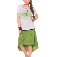NEW! Jazzy Organic Cotton Hi-Lo Skirt