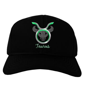 Taurus Symbol Adult Dark Baseball Cap Hat