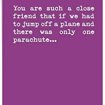 Supersized Happy Birthday Greeting Card - Funny 'One Parachute' Appreciation Card - HBD Cards - Free Shipping