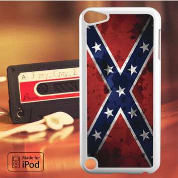 Confederate Rebel Flag Grunge iPod Touch 4 5 6 Case Cover