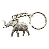 Elephant Keychain ~ Antiqued Pewter ~ Keychain