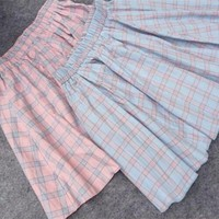 Kawaii Japanese Style Plaid Skirts