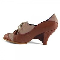Poetic License Force of Beauty Pump Leather Suede Oxford TAN SIZE US 6.5 EU 37