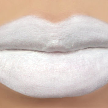 Vegan White Lipstick - MARSHMALLOW (white lipstick) natural lip tint, balm, lip colour opaque mineral lipstick