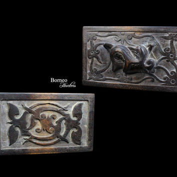 """Borneo Tattoo Template 8.25"""" Dayak Iban Tattoo Ink Stamp Block 'Surong Gelang' Traditional Tribal Primitive Status&Beauty Symbol (1 PIECE)"""