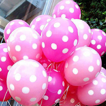 10Pcs Multi-Color Latex Polka Dot Balloon Party Wedding Birthday Decorating HU