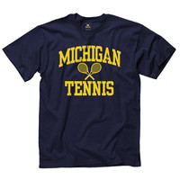 New Agenda University of Michigan Tennis Navy Sport Tee