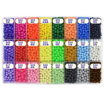 Water Stick DIY Magic Beads Ball Puzzle Mixed Color Game Toy 3000PSC/Bag