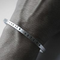 This Too Shall Pass Spanish Bracelet Stamped Sterling Cuff  - Esto también pasará