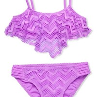 Girl's Gossip Girl Two-Piece Swimsuit,