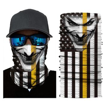 HEROBIKER Motorcycle Mask Balaclava Skull Cycling Seamless Bandanas Breathable Mask Ghost Face Shield Motorbike Helmet Mask