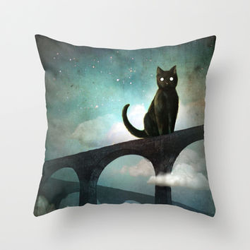 Into the Night Throw Pillow by Christian Schloe | Society6