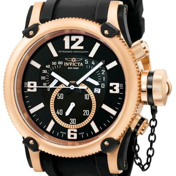Invicta 5669 Men's Swiss Made Rose Gold Russian Diver Retrograde Chronograph Watch