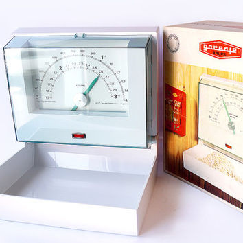 GORENJE Krups Kitchen Wall Scale 1970s Retro Vintage Mounted 3KG Yugoslavia Minimalist Collectible Home Living Mid Century Modern WITH BOX
